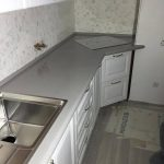 Столешница из украинского кварцита Atem Grey 0003