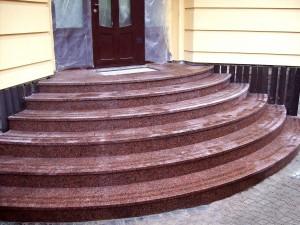 Входная группа из камня - Изделия из натурального и искуственного камня |Внешняя лестница