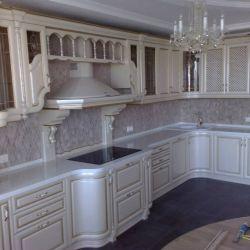 Столешницы | Изделия из камня | Белая столешница для кухни | Столешница из кварцита | Столешница для кухни
