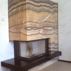 Камин из оникса |Электрический камин |Камин из камня|