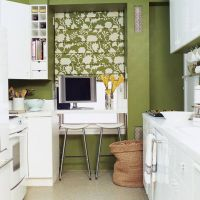 Модный цвет KALE для стильной кухни 2017 года. Кухонная столешницв из белого кварцита Caesarstone 1141