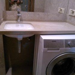 Фото столешницы в ванную комнату из кварцита Caesarstone 4230
