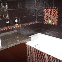 Фото столешницы в ванную комнату из кварцита Samsung Radianz MI 780