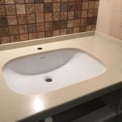 Столешница для ванной комнаты из кварцита (искусственного камня) BQ8430 Boticcino