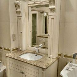 Столешница из мрамора Capuccino для ванной комнаты