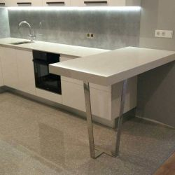 Atem White 0001M как материал для кухонной столешницы