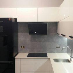 Кухонная столешница из украинского кварцита Atem White 0001M