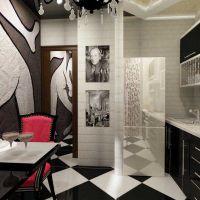 Оформление интерьера кухни в стиле Авангард