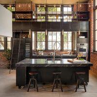 Столешница из мрамора для кухни в стиле Лофт