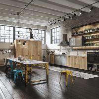 Столешницы из камня для кухни в стиле Лофт