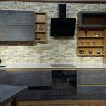 Кухонная столешница из кварцита украинского производства Атем Grey Light 0031.