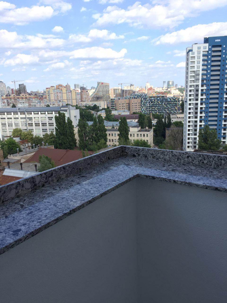 Отливы для балкона из кварцита Atem Terra Black 0015