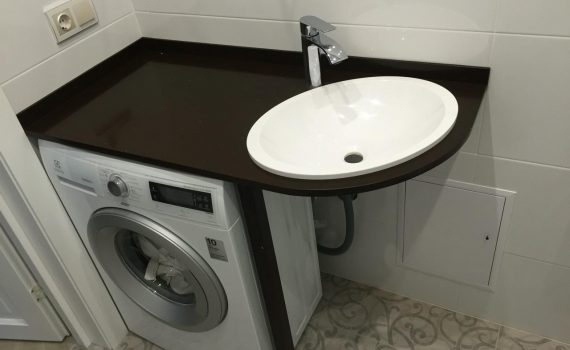 Столешницы из камня для ванных комнат