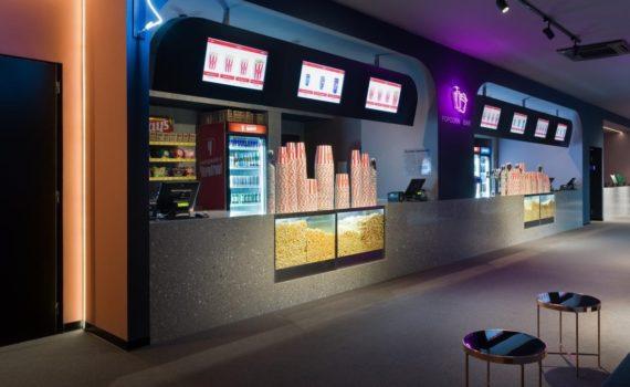 Стойки-ресепшн для попкорн-бара кинотеатра Мультиплекс (г.Кривой Рог)